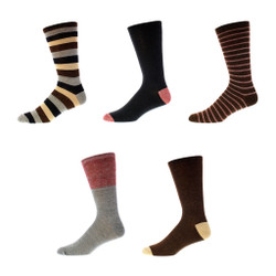 Espresso Trails Mens Trouser Socks 5 Pair Set