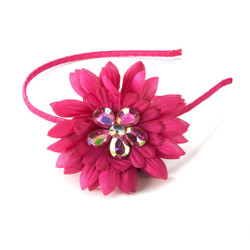 Tropical Garden Rhinestone Flower Headband