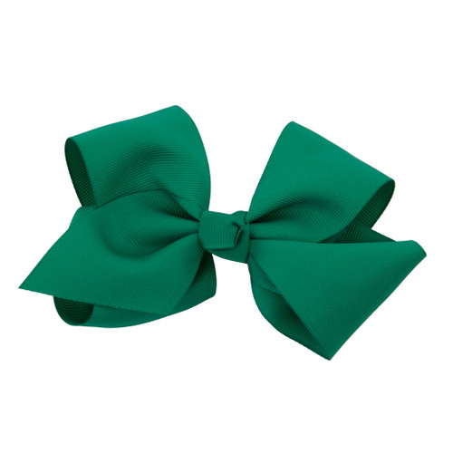 Greatlookz Emerald Green Grosgrain Hair Bow with Extra Large Clip