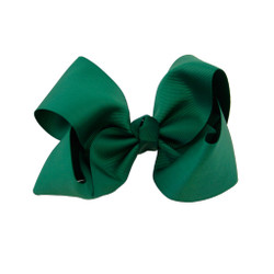 Greatlookz Hunter Green Grosgrain Hair Bow with Extra Large Clip