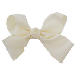 Greatlookz Ivory Grosgrain Hair Bow with Extra Large Clip