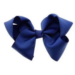 Greatlookz Midnight Blue Grosgrain Hair Bow with Extra Large Clip