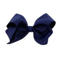Greatlookz Navy Blue Grosgrain Hair Bow with Extra Large Clip