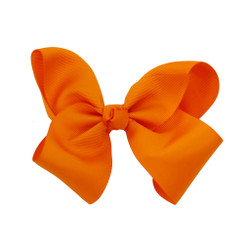 Greatlookz Orange Grosgrain Hair Bow with Extra Large Clip