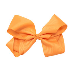 Greatlookz Orange Sherbet Grosgrain Hair Bow with Extra Large Clip
