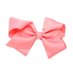 Greatlookz Pink Grosgrain Hair Bow with Extra Large Clip