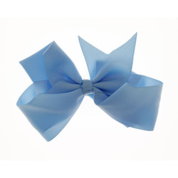 Greatlookz Powder Blue Grosgrain Hair Bow with Extra Large Clip