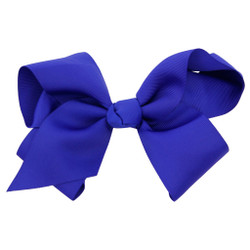 Greatlookz Royal Blue Grosgrain Hair Bow with Extra Large Clip