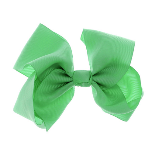 Greatlookz Spring Green Grosgrain Hair Bow with Extra Large Clip