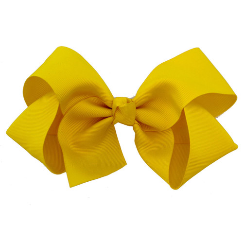 Greatlookz Yellow Grosgrain Hair Bow with Extra Large Clip