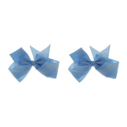 Powder Blue Grosgrain Hair Bows with XL Alligator Clip Set of 2
