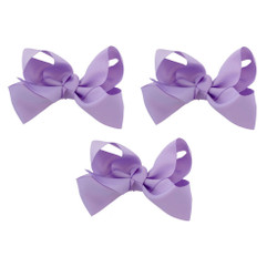 Lavender Grosgrain Hair Bows with XL Alligator Clip Set of 3