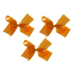 Orange Sherbet Grosgrain Hair Bows with XL Alligator Clip Set of 3