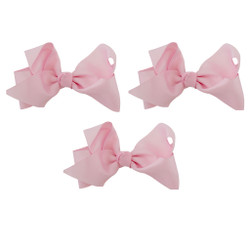 Pink Grosgrain Hair Bows with XL Alligator Clip Set of 3