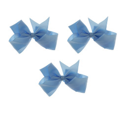 Powder Blue Grosgrain Hair Bows with XL Alligator Clip Set of 3