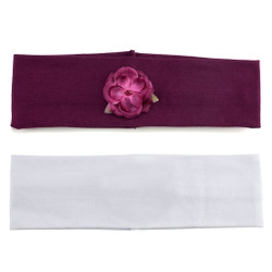 Clever and Classy Soft Stretch Headband Set of 2