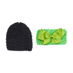 Colorful Cottontail Set of 2 Infant Crochet Headband and Cap