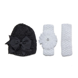 Brilliant Bunnies Set of 3 Infant Crochet Cap and Headbands