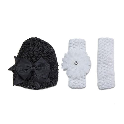 Brilliant Bunnies Set of 3 Infant Crochet Cap and Headbands