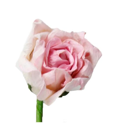 Long Stem Handmade Rose in Light Pink