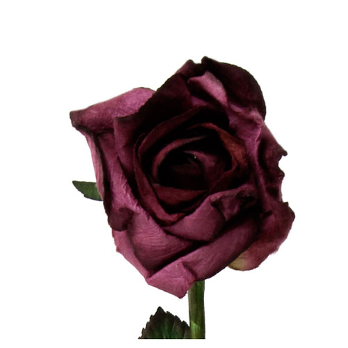 "Long 18"" Stem Handmade Rose in Mauve"