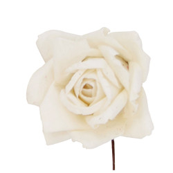 Decorative Handmade Roses set of 12 in Ivory