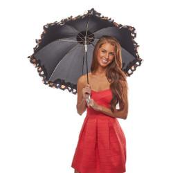 Cookies and Cream Ruffled Parasol Umbrella