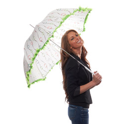 Effervescent Parasol Umbrella with Organza Trim