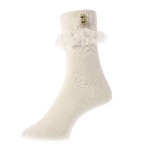 Greatlookz Frilly Lace Bobby Socks for Girls
