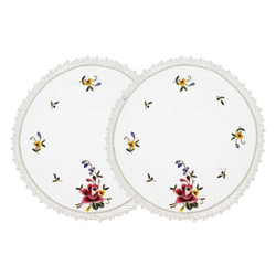 Garden Crochet Cotton Doilies Set of 2