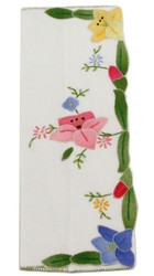 Spruced up Spring Floral Embroidery Hand Fan Holder