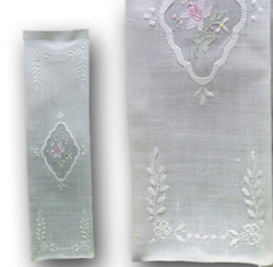 Handmade Embroidered Wine Bottle Cover, Floral Design