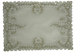 Elegant Ivory Floral Placemats, Set of Two