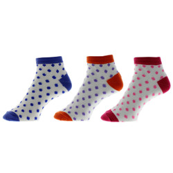 Polka Dot Diva Ladies Anklet Socks Set of 3