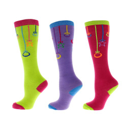 Deck The Halls Ladies Socks Set of 3 Pair