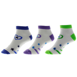 Star of my Heart Ladies Anklet Socks Set of 3
