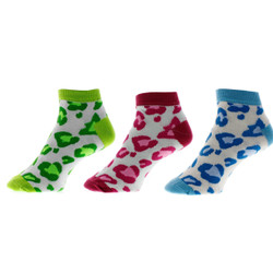 Lucky Leopard Ladies Anklet Socks Set of 3