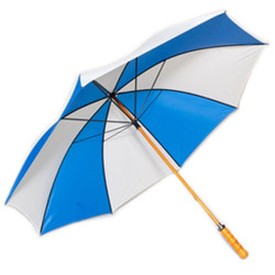 Golf Umbrella in Royal Blue & White Colors with Wooden Shaft
