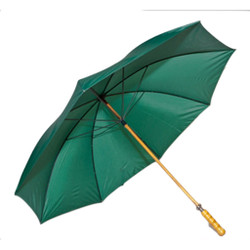 Golf Umbrella in Forest Green with Wooden Shaft
