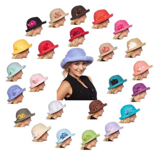 4b0c6a651 Cozumel Medium Brim Scala Cotton Sun Hat with Flower