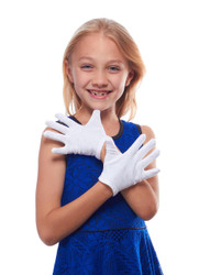 Girls wearing latex gloves sorry, that