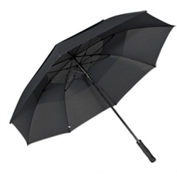 Professional Fiberglass Golf Umbrellas in Black