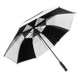 Professional Fiberglass Golf Umbrellas in Black & White Colors