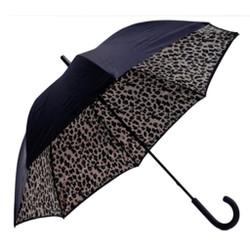 Unique Oversized Umbrella with Cheetah Print Inside