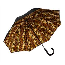 Unique Umbrella with Tiger Print Inside