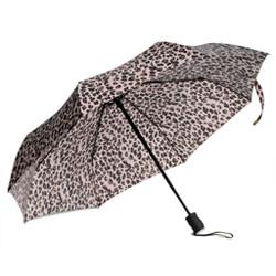 Compact Triple-fold Umbrella with Cheetah Print