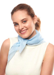 light blue sheer scarf