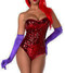 Jessica Rabbit Purple Satin Gloves