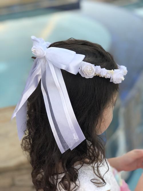 White Crown Wit Rhinestones