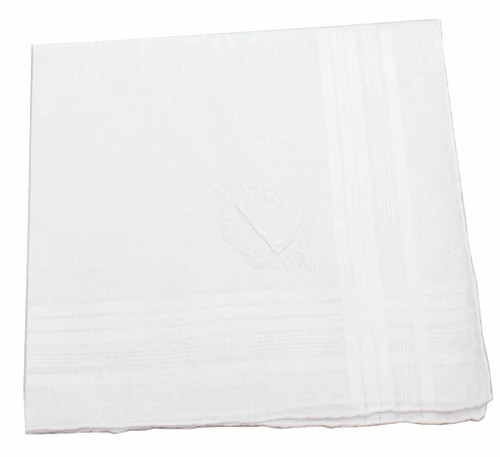Note: You are buying a blank hanky, this Photo shows an embroidered hanky as a sample only.